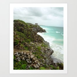 COASTAL STORM BREWING Art Print
