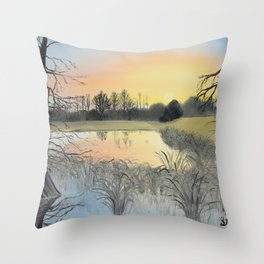 Nudity On The Water Throw Pillow