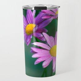 Three purple daisies. Travel Mug