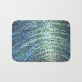 Shimmerin Ocean Wave Reflections Bath Mat