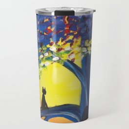 Kitties Love Sunsets Travel Mug