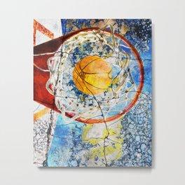 Basketball Art Metal Print