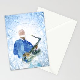 Live Music Poster Stationery Cards