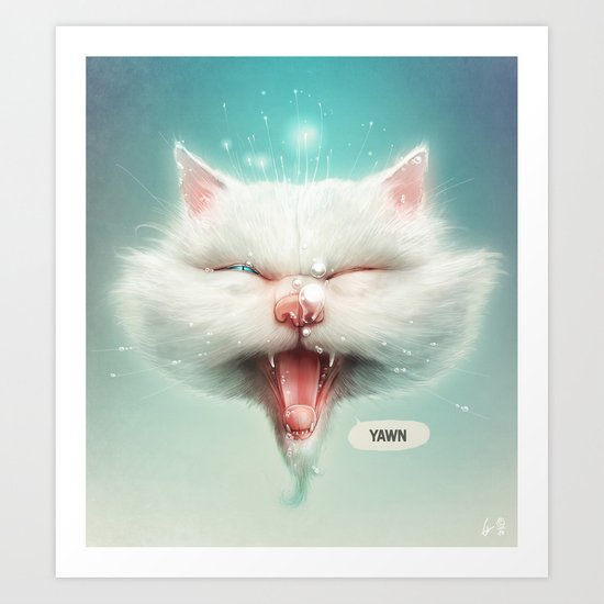 The Water Kitty Art Print
