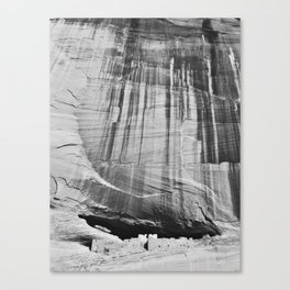 White House Ruins in Black & White Canvas Print