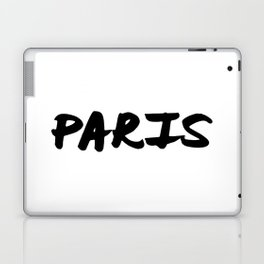 'Paris' Hand Letter Type Word Black & White Laptop & iPad Skin