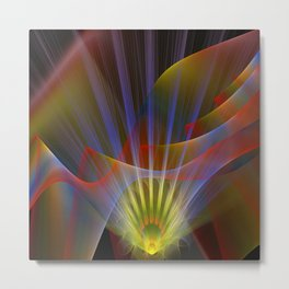 Inner light, spiritual fractal abstract Metal Print