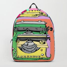 Warholized old style typewiter - vintage - Backpack