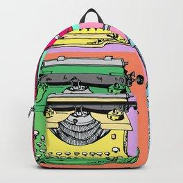 Warholized old style typewiter - vintage - Backpack