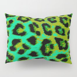 Aqua and Apple Green Leopard Spots Pillow Sham