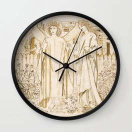 "Edward Burne-Jones ""Chaucer's 'Legend of Good Women' - Amor and Alcestis"" Wall Clock"