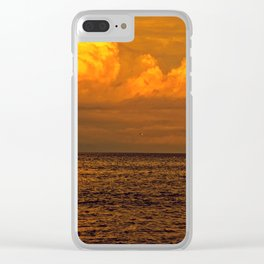 Billowy Sunset Clear iPhone Case