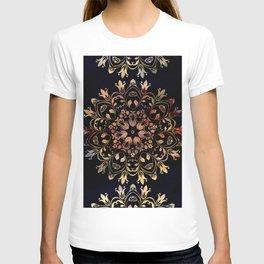 deep toned mandala pattern T-shirt