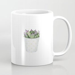 Succulent in a pot. Coffee Mug