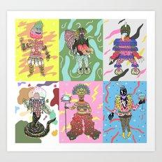 characters Art Print