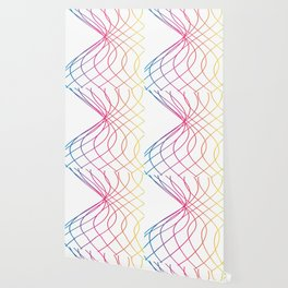 RAINBOW COLORED LINES Abstract Art Wallpaper