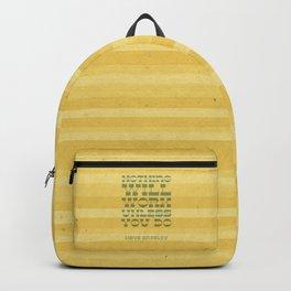 Work Quote - Maya Angelou Backpack