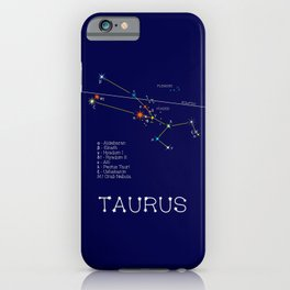 Zodiac Constellation Taurus. Real Color Of The Stars iPhone Case