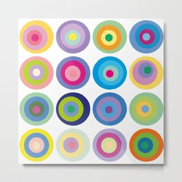 Colour Fields Circles Colorful Abstract Modern Art Metal Print