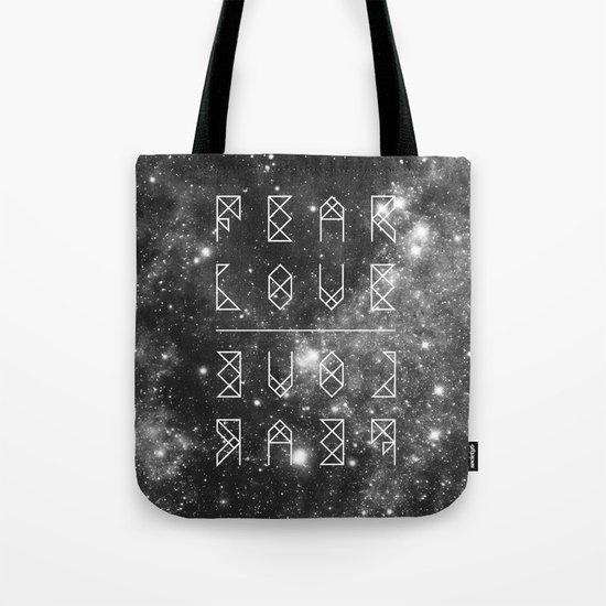 FEAR LOVE / LOVE FEAR Tote Bag