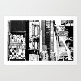 City Architecture Collage Art Print