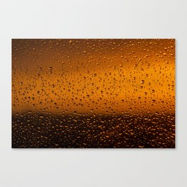 Droplets on glass Canvas Print