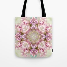 bouquet tulips in blue vase  (pattern/pillow) Tote Bag