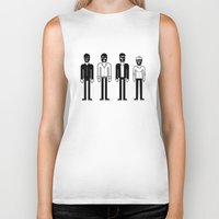 talking heads Biker Tanks featuring Talking Heads by Band Land