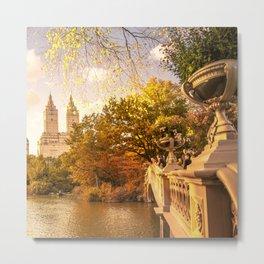 New York City Autumn Landscape Metal Print
