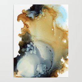 Abstract in umber and grey Poster