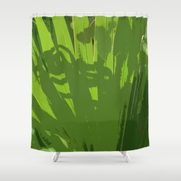Five Shades  Of Green Shower Curtain