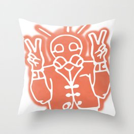 Peace inside Peril Throw Pillow