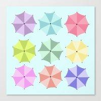 umbrella Canvas Prints featuring Umbrella by Melis Kalpakçıoğlu