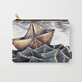 """""""She dreams of the ocean late at night, and longs for the wild salty air."""" Carry-All Pouch"""