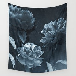 Blue Peonies Wall Tapestry