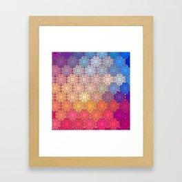 Indian pattern Framed Art Print