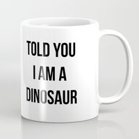 dino Mugs featuring Dino by Schewy
