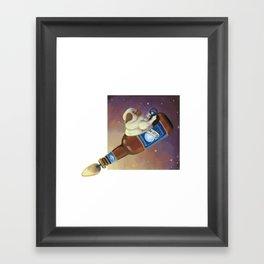 Bluemoon Pug Framed Art Print