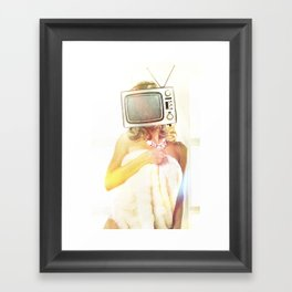 SEX ON TV - FOXY by ZZGLAM Framed Art Print