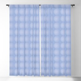 Blue Spiral Seamless Pattern Blackout Curtain