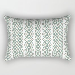 Colors of Sun, Belarusian ornament symbol of Sun, with effect of embroidery  Rectangular Pillow