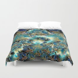 Glass Donut Worlds with Monuments Duvet Cover