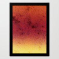 Gradient Forest Art Print