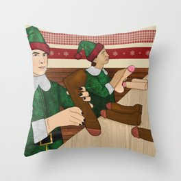 The Naughty List Throw Pillow