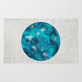 Aries zodiac constellation on the light background Rug