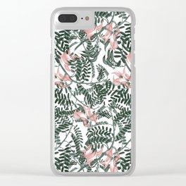 Botanical floral print - Sweet Pea Clear iPhone Case