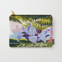 Vintage poster - Puerto Rico Carry-All Pouch