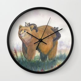 Bear Family Wall Clock