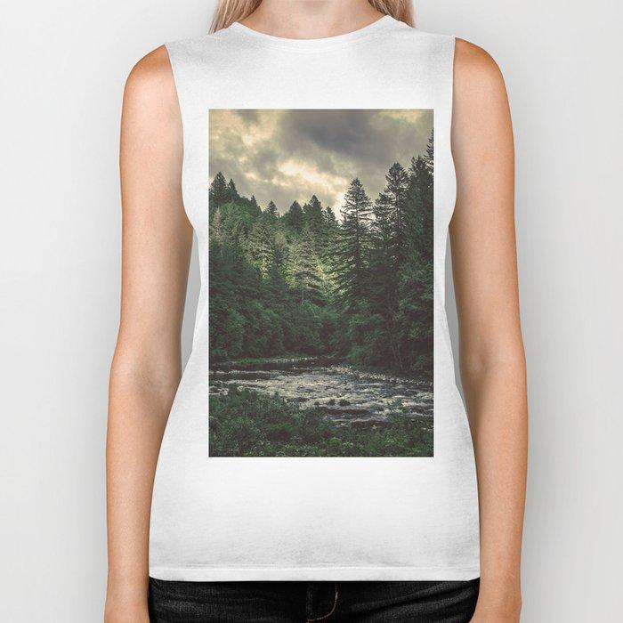 Pacific Northwest River - Nature Photography Biker Tank