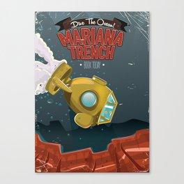 Mariana Trench Vacation poster Canvas Print